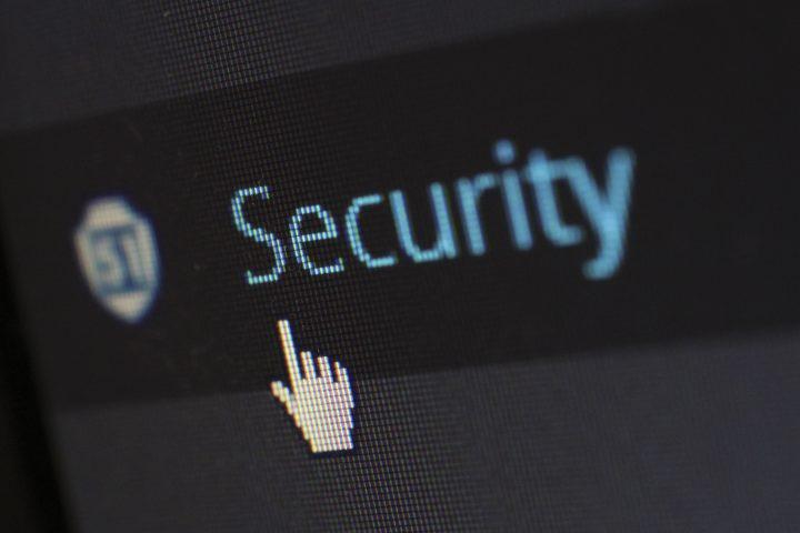 security written on screen
